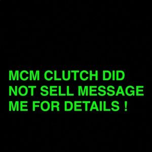 MCM CLUTCH ON SALE CHECK OUT MY PAGE